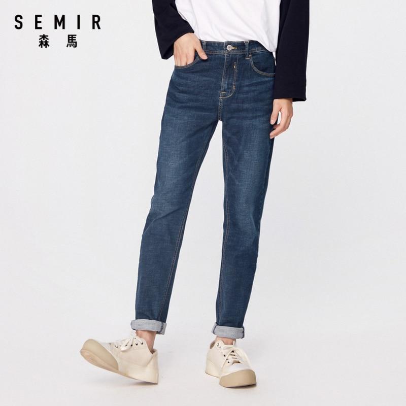 SEMIR Cowboy Vintage Jeans Men New Arrival 2020 Fashion Stretch Classic Denim Pants Male Designer Straight Fit Trouser