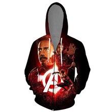 YFFUSHI 2019 3d Hoodie Men Zipper Coat Cool Movie Hero Hooded Hoodies Jacket Sweatshirts Male 5XL 3D