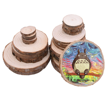 Natural Round Wood Pieces Unfinished Predrilled Slices DIY Crafts Photo Prop Decoration Wedding Party Painting