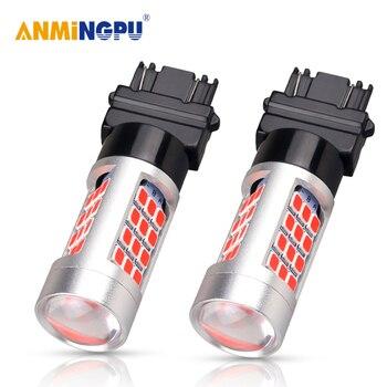 цена на ANMINGPU 2x Signal Lamp T25 3157 P27/7w Bulb 3156 P27W Led Canbus T20 7440 W21/5W W21W Reverse Car Brake Light Lamp Turn Signal