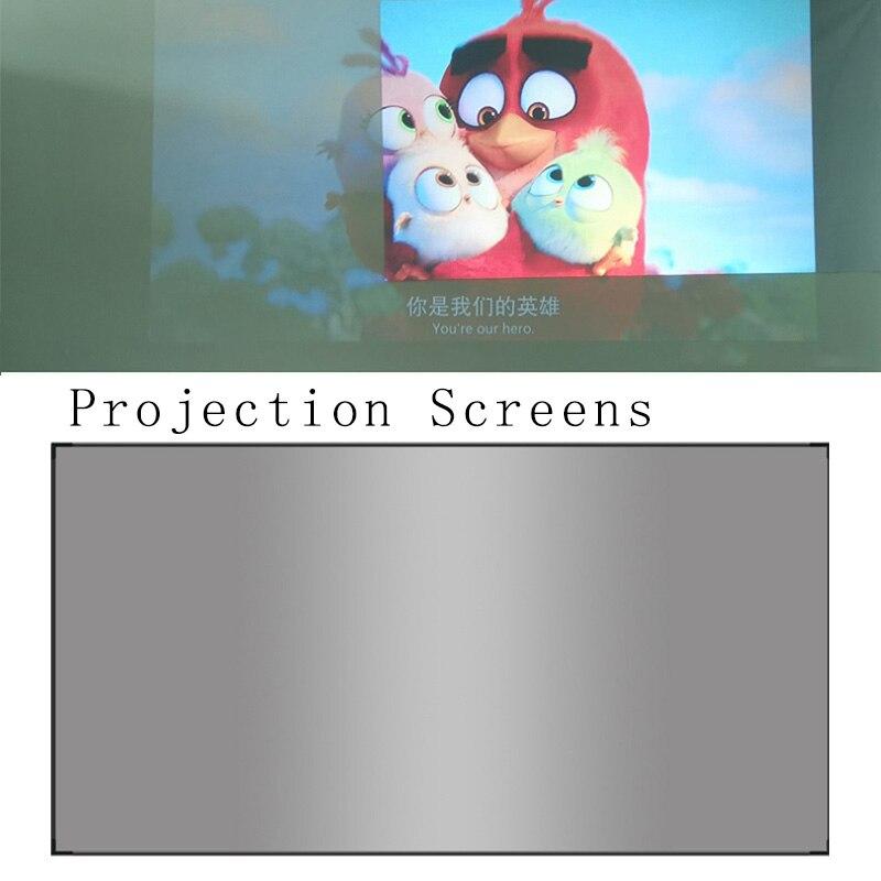 169 yüksek parlaklık yansıtıcı projeksiyon perdesi 60 72 84 100 120 130 inç Polyester Fiber ekran epson BenQ XGIMI Beamer