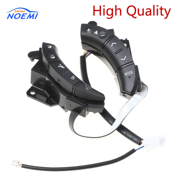 YAOPEI New black Color A Pair OEM 75B037 84247-58010 For Toyota Highlander Land Cruiser Steering Wheel Controls Switch