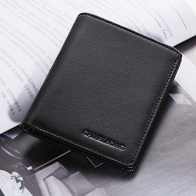 0 6cm Ultra thin Leather Wallet Men Wallets Vintage Genuine Leather Wallet for Men Cowboy Top Leather Thin To Put Free Shipping in Wallets from Luggage Bags