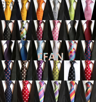 Klasyczne kratki Ploka kropki krawaty dla mężczyzn garnitury casualowe krawat Gravatas złote męskie krawaty na formalne na wesele 8cm szerokość krawaty męskie tanie i dobre opinie EFAN WOMEN Chłopcy Dziewczyny moda SILK POLIESTER CN (pochodzenie) Dla osób dorosłych muszki Jeden rozmiar TGTTW Floral