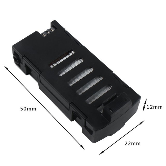 2019 NEW Upgrade 3Pcs 3.7V 500mAh Rechagerable Battery for SG800/LF606/D2/S606/M9 with 3-in-1 Charger Spare Parts for Quadcopter