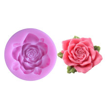 1PC romantic rose flower non-stick silicone mold soft candy mold cake decoration tool flower making chewing gum