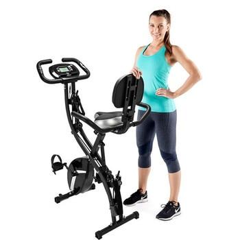 Casa interior 3 en 1 Fitness Bicicleta vertical plegable Bicicleta negra estática equipo de gimnasio Bicicleta de ejercicio para el hogar