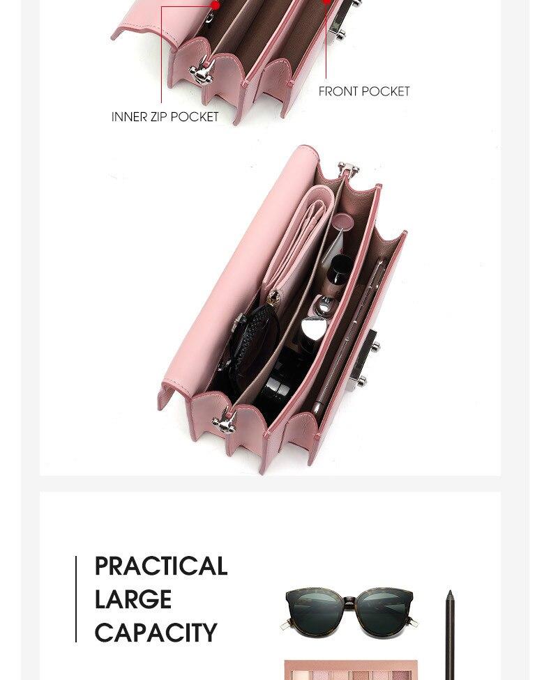 Bisonjs couro bolsa feminina bolsas de luxo