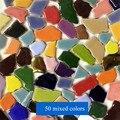 100g 50 Mixed Color DIY Ceramic Mosaic Tiles Ceramic Irregular Mosaic Making Tiles DIY Wall Crafts Handmade Decorative Materials
