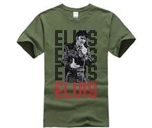 купить 2019 Hot Sale Fashion Elvis Presley King of Rock and Roll Music T Shirt Mens Fashion Novelty Short Sleeve Tee Tops Clothes дешево