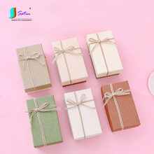 Fashion Colorful Commercial Christmas Teacher's Day Gift Girl Lipstick Perfume Rectangle Small Size Packing Paper Box G0027L(China)