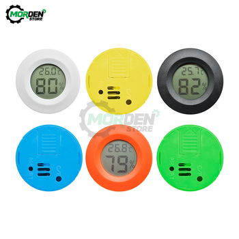 цена на Household Mini LCD Digital Thermometer Hygrometer Fridge Freezer Temperature Humidity Meter Detector Indoor Thermometer For Car