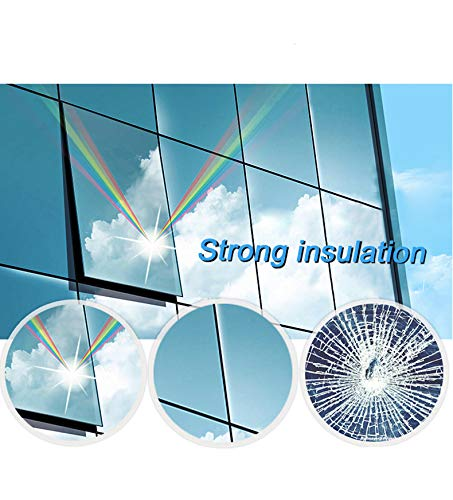 Window Privacy Film Sun Blocking Mirror Reflective Tint One Way, Heat Control Vinyl Anti UV Window Stickers for Home and Office 6