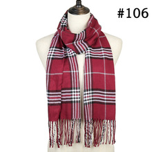 Plaid Winter Check Tassel Scarf Unisex Knitted SF