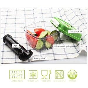 Image 3 - Вместительный пустой контейнер из АБС пластика для хранения еды, Квадратный пластиковый фотоконтейнер 500 мл + 1400 мл + 3000 мл