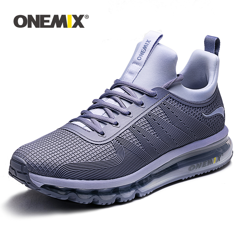 ONEMIX Men Running Shoes Fashion Casual High Top Sport Shoe Outdoor Jogging Air Cushion Trainers Tennis Sports Fitness Sneakers