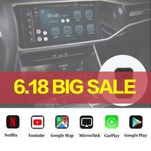 Автомобильная система Carplay Ai Box Usb Android Новая версия 4 + 32 ГБ для Audi Benz автомобильный мультимедийный плеер Беспроводная зеркальная коробка для ...