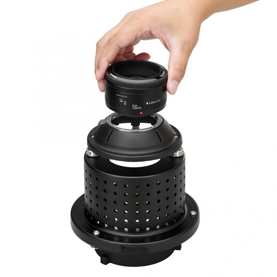 NiceFoto SN-29 Professional Flash Light Snoot 50mm 1.8F Lens Compatible with Bowens Mount foto Studio New