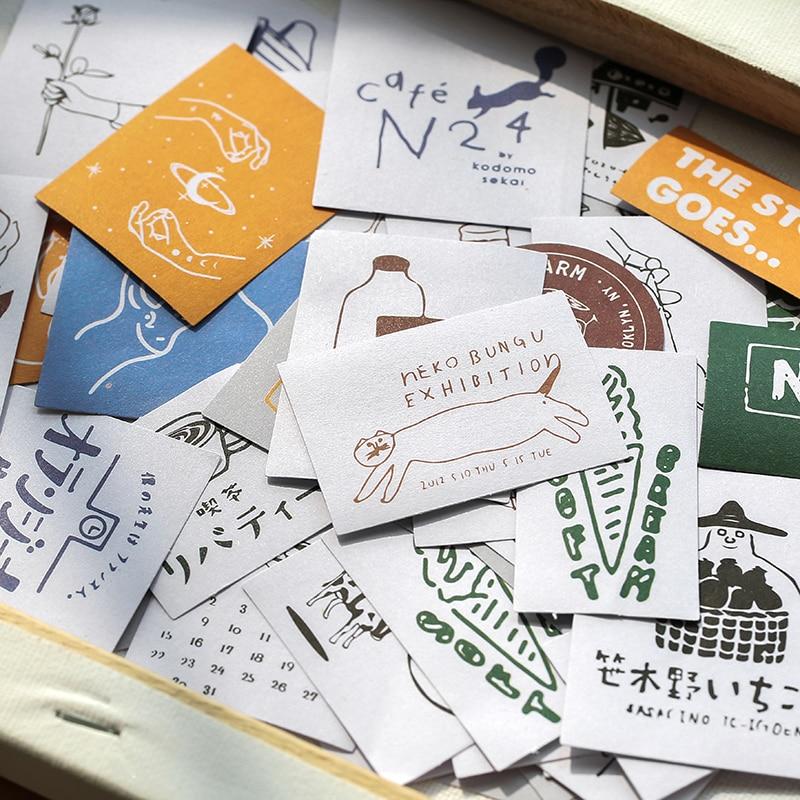 60pcs/pack Island Garden Series Decorative Washi Stickers Scrapbooking Stick Label Diary Stationery