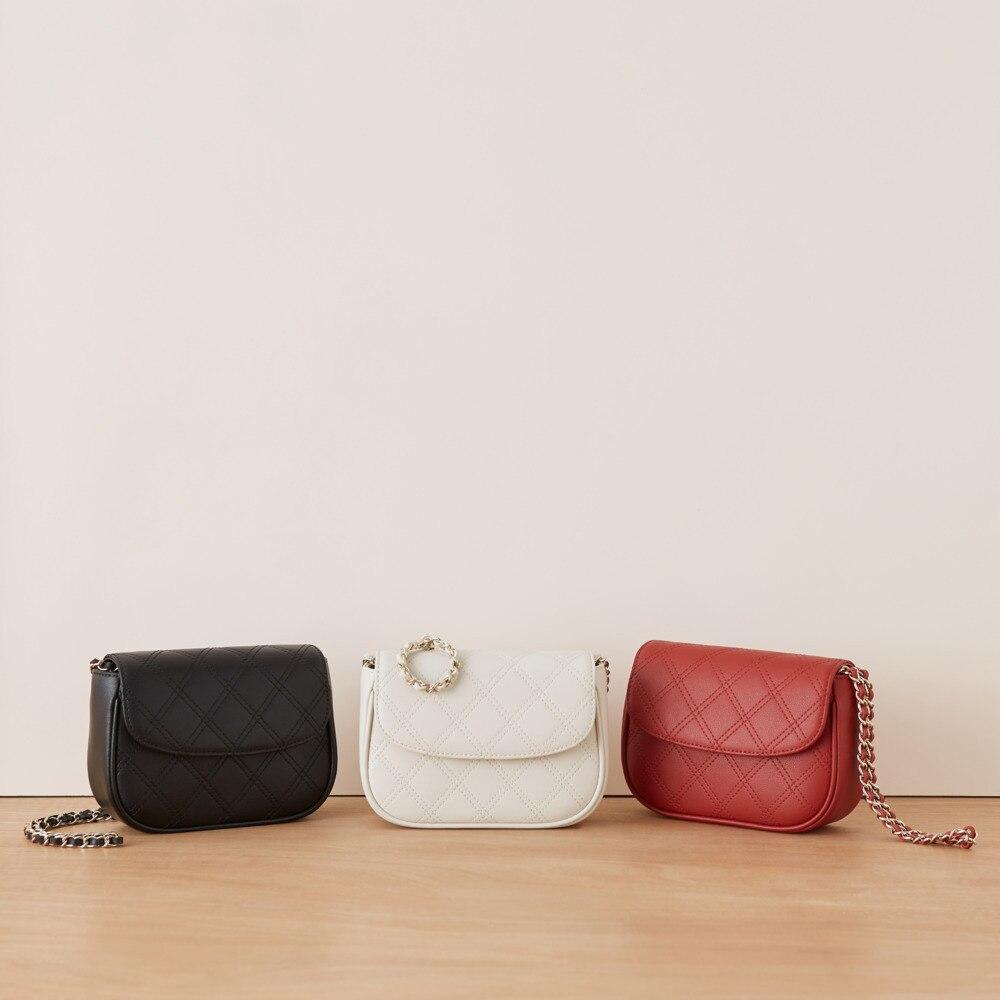 Genuine Leather Diamond Lattice Chain Bag Woman Package 2020 Saddle Messenger luxury handbags women bags designer free shipping