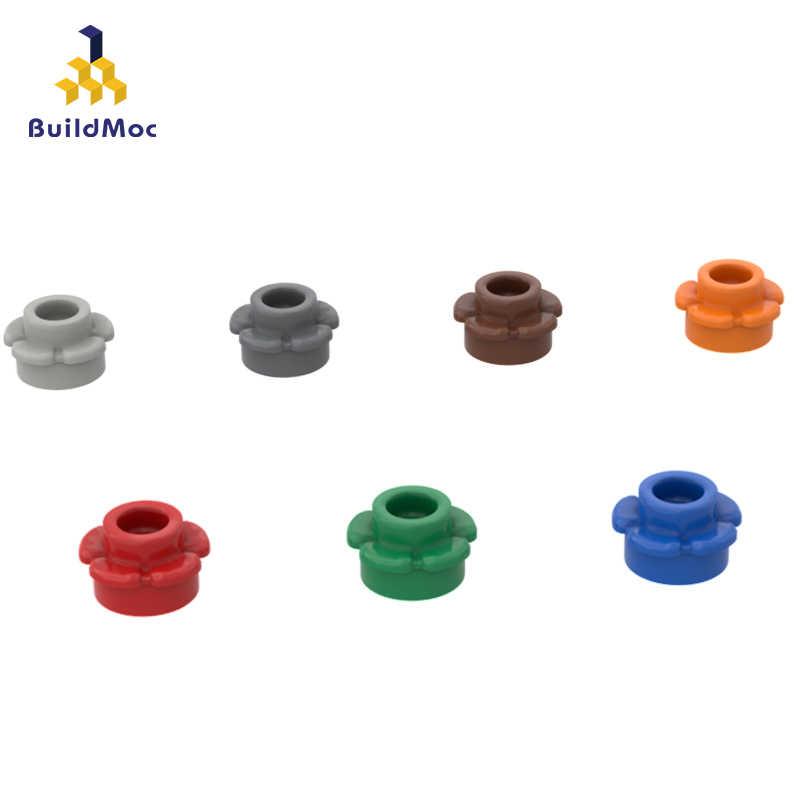Buildmoc Kompatibel Mengumpulkan Partikel 24866 1X1 Lima Kelopak Bunga Bangunan Blok Bagian Logo Logo Pendidikan Mainan Hadiah