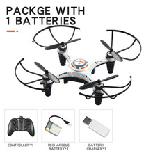 RC quadcopter, 4ch mini remote control 6 axis toy 2.4G one button tumbling Headless Mode 2-level flight speed fly 4 LED lights