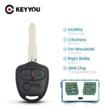 Car-Remote-Key Blade MIT8 KEYYOU Pajero Lancer Shogun Mitsubishi Outlander 2/3-Buttons