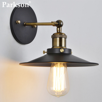 Vintage Retro LED Wall Lamp Loft Black E27 Industrial Decor Sconce Wall Lights Fixture Dining Room Bedroom Light Bedside Lamp ark light free shipping loft american vintage nostalgic industrial retro hanging lights dining room coffee room tea house