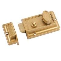 Zink Zylinder Riegel Latch Lock für Nacht Tor Tür Eingang  Gold Finish