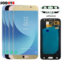 Amoled LCD do Samsunga Galaxy J5 2017 wyświetlacz J530 J530F AMOLED wyświetlacz LCD ekran dotykowy Digitizer zgromadzenie J5 Pro 2017 LCD tanie tanio SODAYA Pojemnościowy ekran Nowy For Galaxy J5 2017 J530 LCD i ekran dotykowy Digitizer 1280x720 3 Test One by One Bubble bags with foam box
