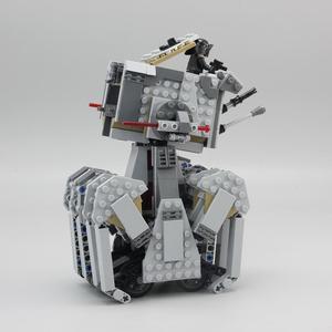 Image 3 - 05126 primer orden Heavy Scout Walker Star Wars en miniatura Kit de bloques de construcción ladrillos compatibles legoed 75177 regalos de navidad DIY