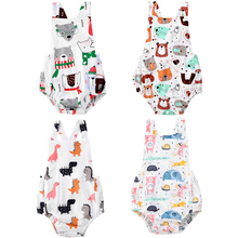Outfits Romper Jumpsuit Summer Clothes Newborn Baby-Girls Sleeveless Animals Boys One-Pieces