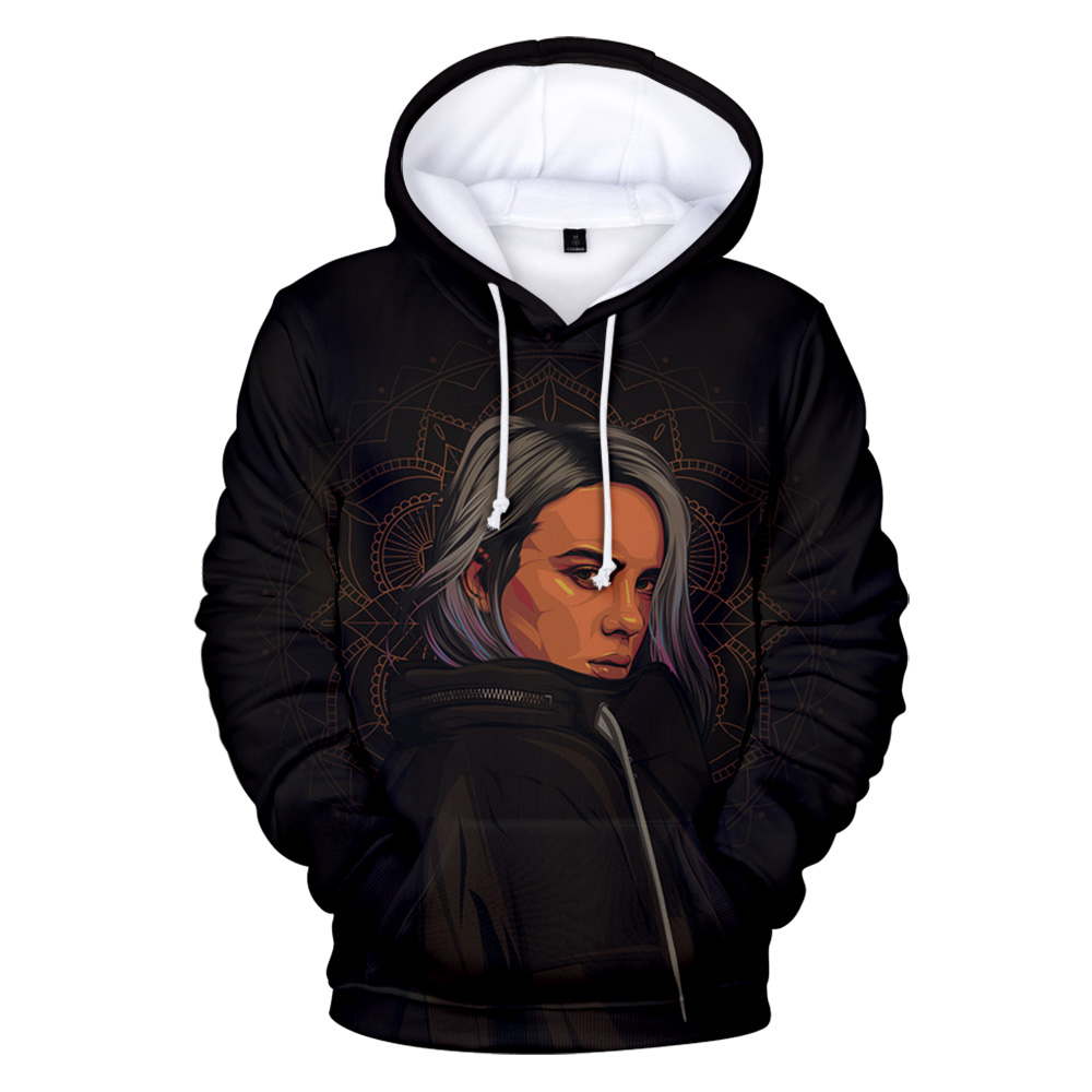 3d Billie Eilish Themed Hoodie 17 Varian