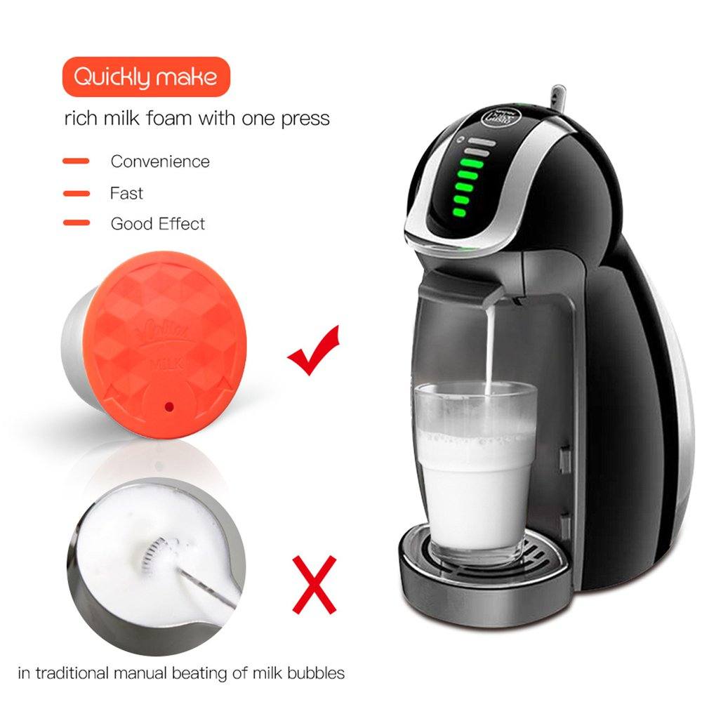 Stainless Steel Reusable Coffee Milk Capsule Filter Dripper Tamper Compatible With Dolce Gusto Coffee Machine