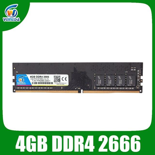 VEINEDA DDR4 8GB ddr 4 4gb PC Память ram Memoria модуль настольный компьютер 1,2 V напряжение NON-ECC PC4 4g 8g