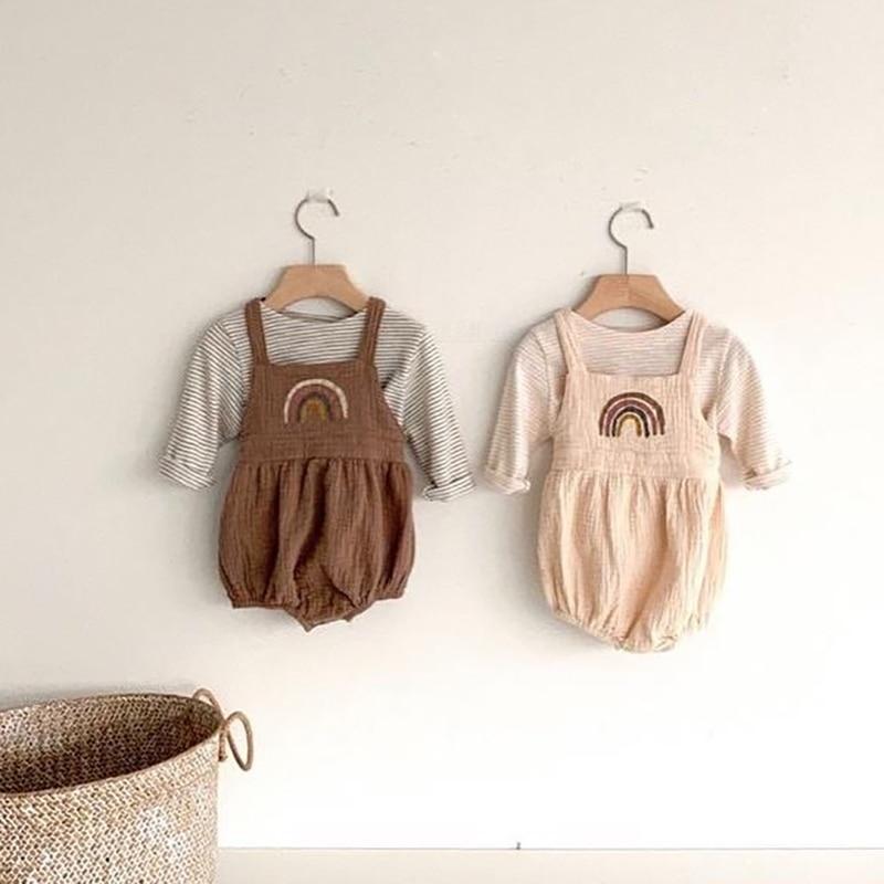 MILANCEL Baby Clothing Newborn Baby Boys Clothes Baby Rainbow Bodysuit Infant Clothing Set