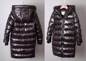 Image 5 - OLEKID 2020 kalın sıcak kızlar kış ceket su geçirmez aşağı ceket kızlar için 2 12 yaş çocuk erkek giyim ceket çocuklar Parka