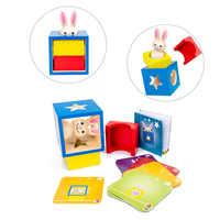 Novo quebra-cabeça de madeira caixas com segredo coelho boo esconder e procurar jogo mágico cérebro teaser brinquedos crianças brinquedo de madeira presentes