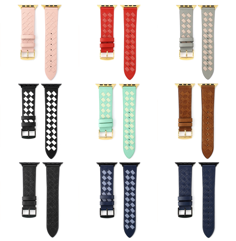 woven designed Leather straps