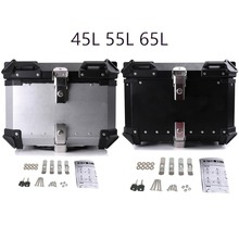 45L-65L Universal Motorcycle Rear Luggage Helmet Box Toolbox Trunk Storage Moto Tail Top Tool Key Lock Case Waterproof Removable customized motorcycle trunk motorbike storage box mould motorcycle tail box top case mold making