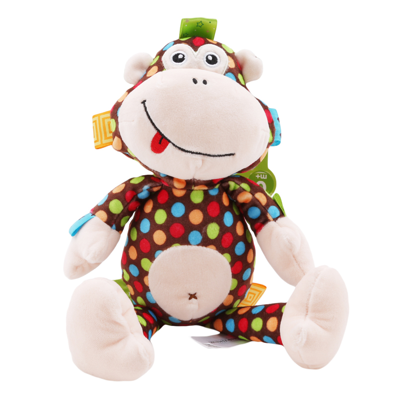Cute Plush Baby Toy Baby Rattle Toy Confort Colourful Monkey Toy Baby Appease Dolls Perfect Gift For Kids Best Birthday Gift