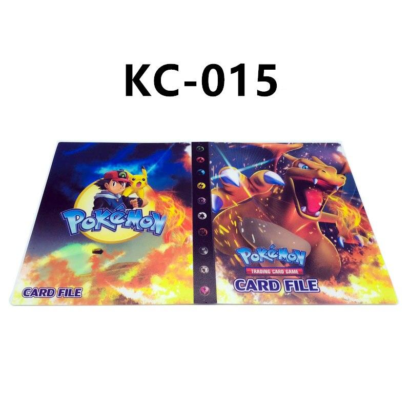 24 стиля Pokemon Cards альбом книга мультфильм аниме Карманный Монстр Пикачу 240 шт держатель альбомная игрушка для детей подарок - Цвет: KC-015