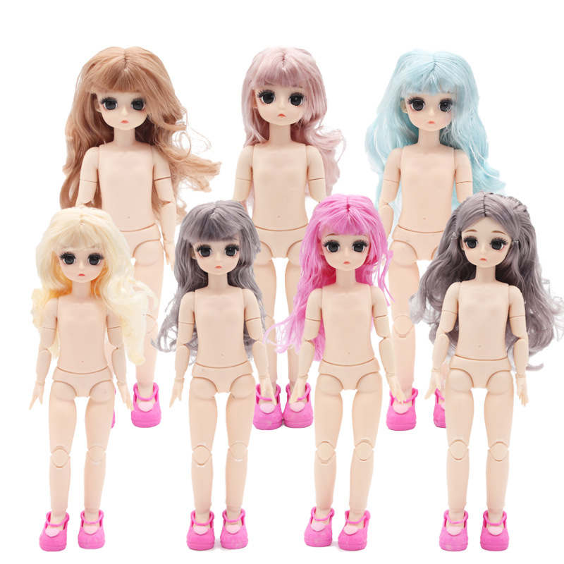 28cm <font><b>BJD</b></font> Doll 21 Moveable Jointed 4D True Eye Doll Baby Doll Nude Fashion Doll Toys for Girls Christmas Gifts image