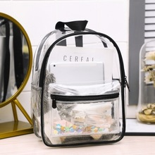 Fashion transparent backpack sequins school bags bags for women 2020 backpacks waterproof jelly travel bag backpack women new 2016 new arrival women backpack more big size mouse backpack fashion jelly bag cartoon school bags bow teenager girl bag xa1234b