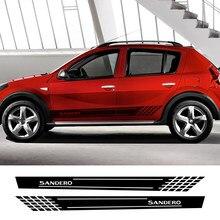 2 шт., автомобильные боковые наклейки для Renault Dacia Sandero Stepway R4 Xplore Techroad