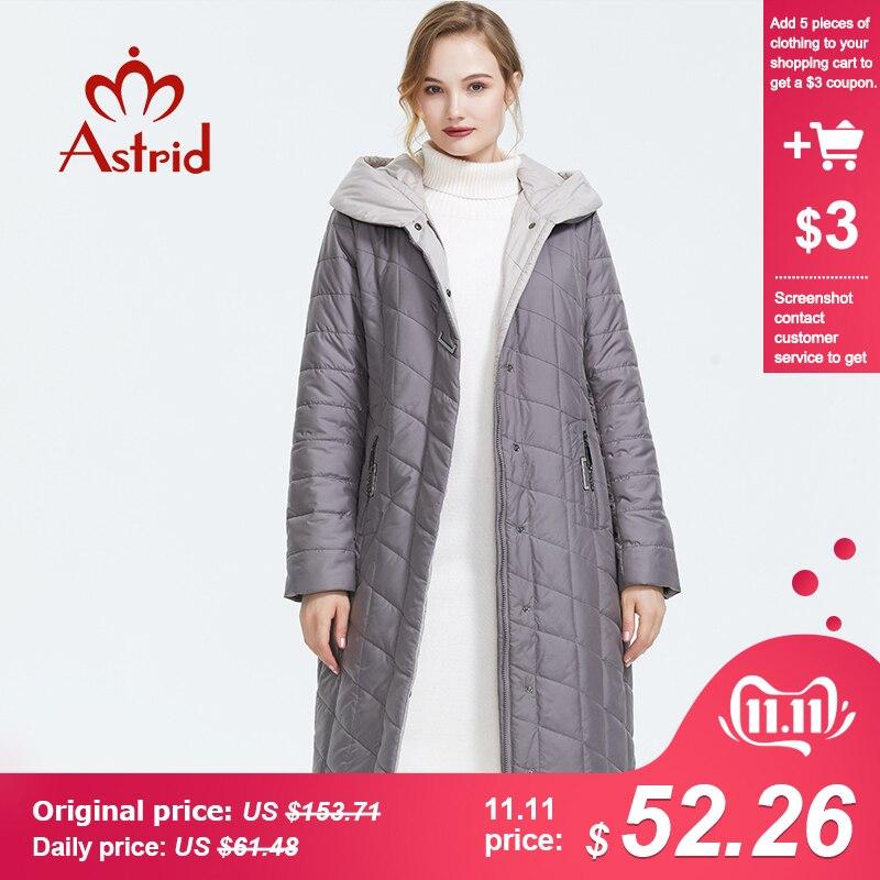 Astrid 2019 Зима новое поступление пуховая куртка женская верхняя одежда высокого качества цвета хаки свободная одежда с капюшоном зимняя куртк...