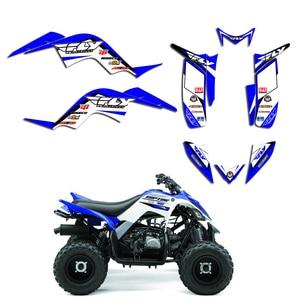 Image 2 - Full Team Decals Stickers Graphic DECO Kit ATV For Yamaha RAPTOR 90 YFM90 2009 2010 2011 2012 2013 2014 2015