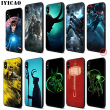 IYICAO Loki Thor Marvel Soft Black Silicone Case for iPhone 11 Pro Xr Xs Max X or 10 8 7 6 6S Plus 5 5S SE iyicao marvel comics the black panther soft black silicone case for iphone 11 pro xr xs max x or 10 8 7 6 6s plus 5 5s se
