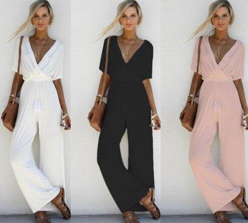 Cotton V-neck Maternity Pants Loose Pregnant Women Trousers Clothing Plus Size Pregnancy Uniforms Overalls Jumpsuits