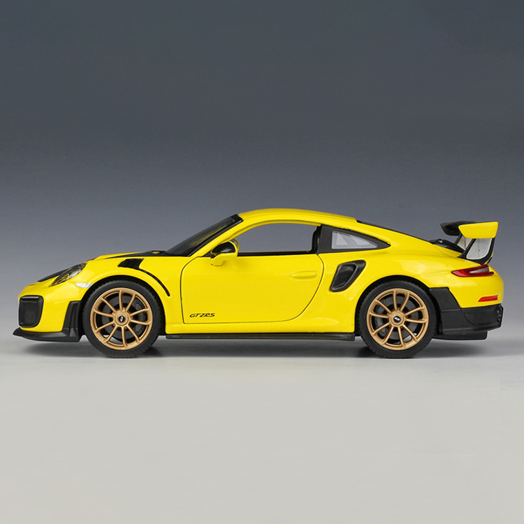 GT2 RS Yellow Diecast Model Car 3